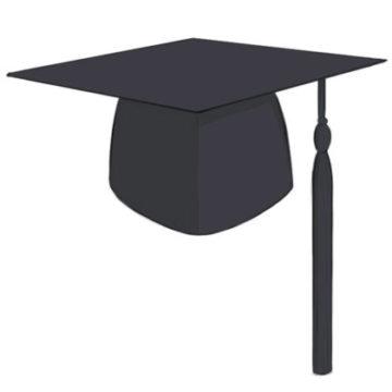 Graduation Cap Coloring Page easy