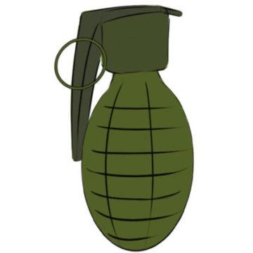 Grenade Coloring Page easy