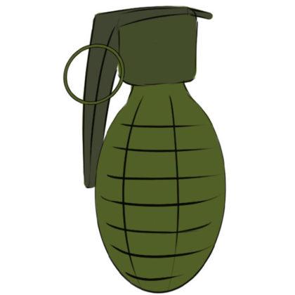 Grenade Coloring Page