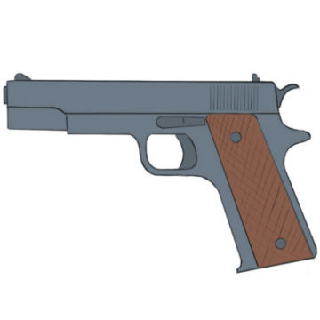 Gun Coloring Page printable