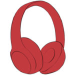 Headphones Coloring Page