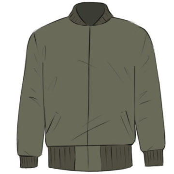Jacket Coloring Page easy