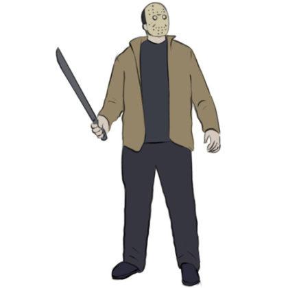Jason Voorhees Coloring Page