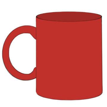 Mug Coloring Page easy