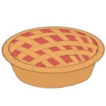 Pie Coloring Page