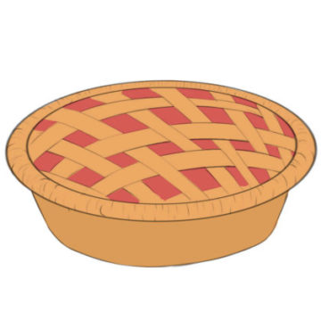 Pie Coloring Page printable