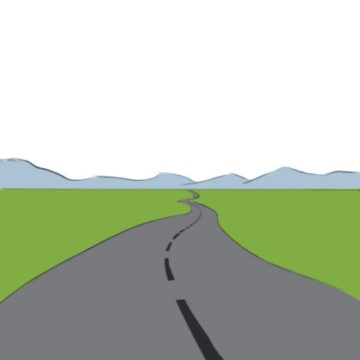 Road Coloring Page easy