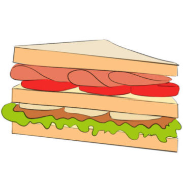 Sandwich Coloring Page printable