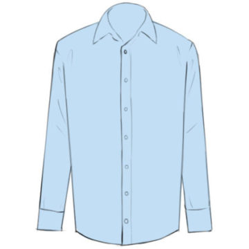 Shirt Coloring Page easy