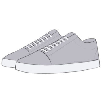 Sneakers Coloring Page easy
