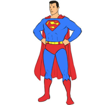 Superman Coloring Page easy