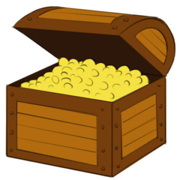 Treasure Chest Coloring Page easy
