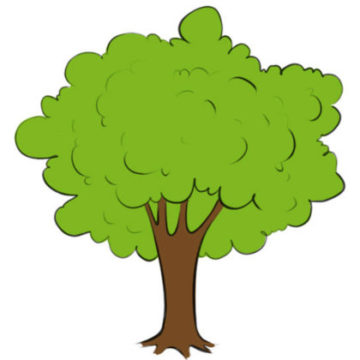 Tree Coloring Page printable