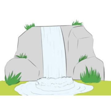 Waterfall Coloring Page printable