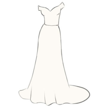 Wedding Dress Coloring Page easy