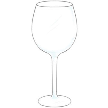 Wine Glass Coloring Page printable