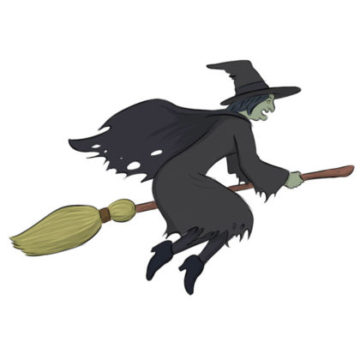 Witch Coloring Page easy