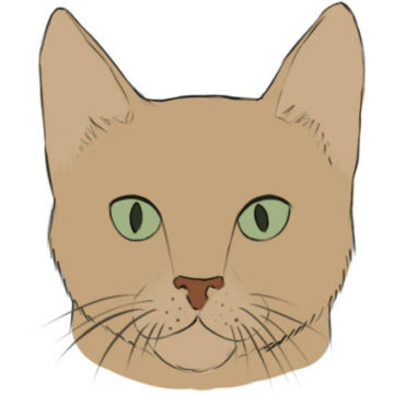 cat face coloring page printable