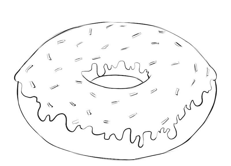 Donut Coloring Page Coloringpagez Com
