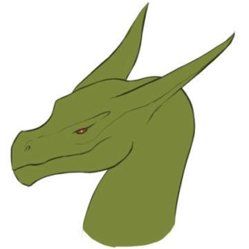 dragon head coloring page printable