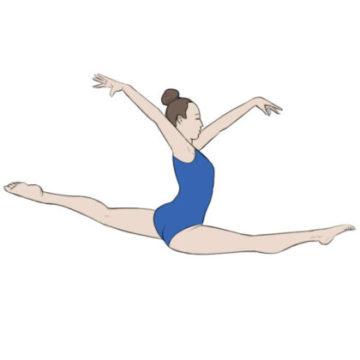 gymnast coloring page printable