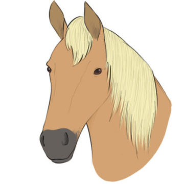 horse head coloring page printable