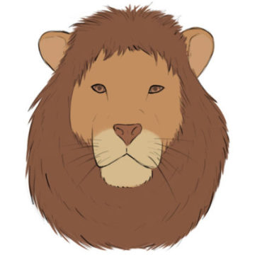 lion head coloring page printable
