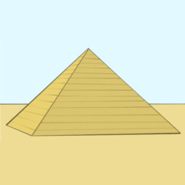pyramid coloring page printable
