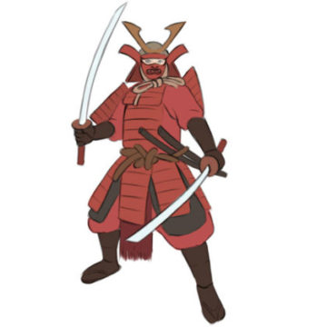 samurai coloring page printable