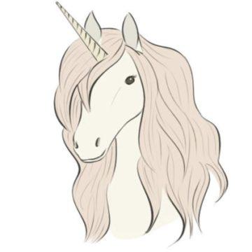 unicorn head coloring page printable