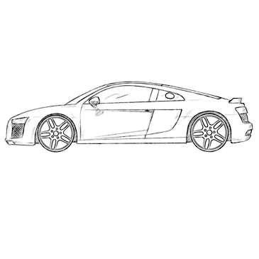 Audi R8 Coloring Page Coloringpagez Com