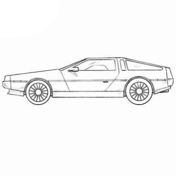 Delorean DMC Coloring Pages