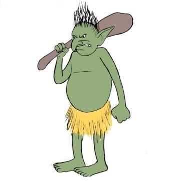 Easy Troll Coloring Page