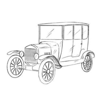 Ford Model T Coloring Page