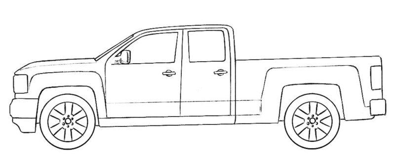 Gmc Truck Coloring Page Coloringpagez Com