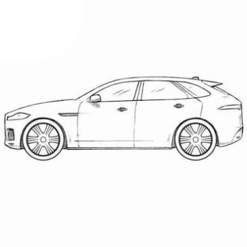 Jaguar F-Pace Coloring Pages