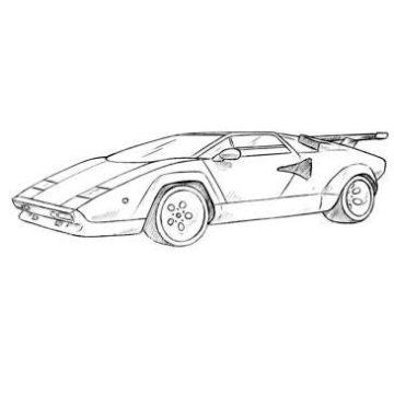 Lamborghini Countach Coloring Page