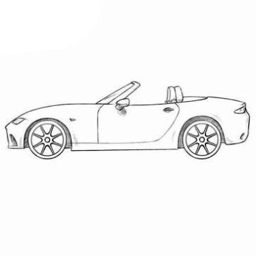 Mazda MX-5 Coloring Pages