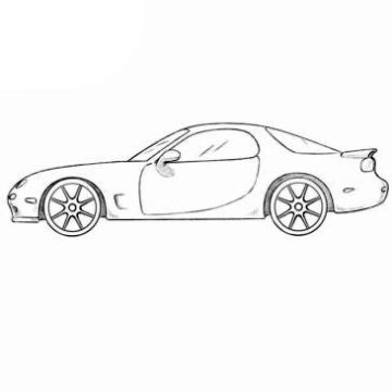 Mazda RX-7 Coloring Pages