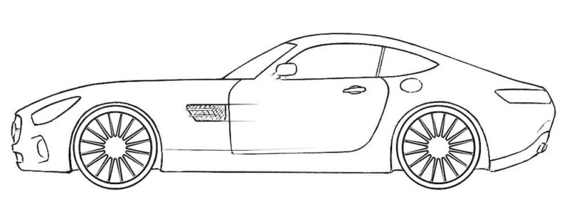 Mercedes-AMG GT Coloring Page