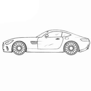 Mercedes-AMG GT Coloring Pages
