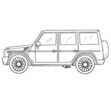 Mercedes-Benz G-Class Coloring Pages