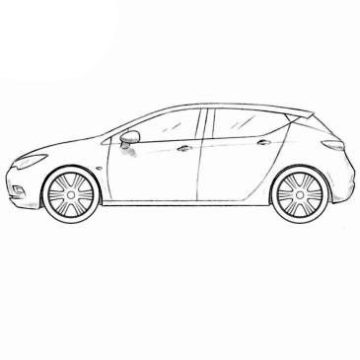 Opel Astra Coloring Pages
