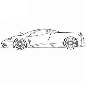 Pagani Huayra Coloring Pages