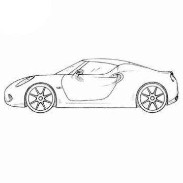 Roadster Coloring Pages