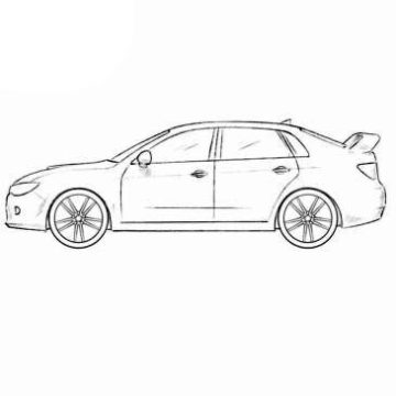 Subaru Impreza WRX Coloring Pages