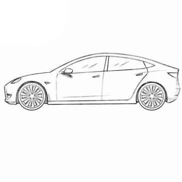 Tesla Model 3 Coloring Pages