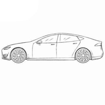 Tesla Model S Coloring Pages