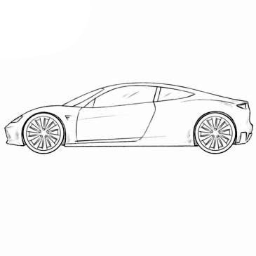 Tesla Roadster Coloring Page   Coloringpagez.com