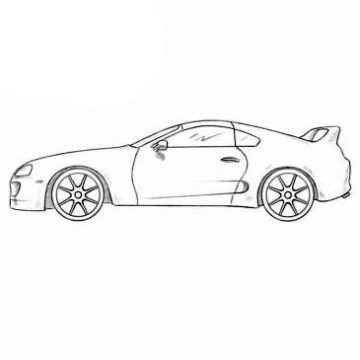 Toyota Supra Coloring Pages